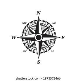 compass, White background, Vector illustration design.
