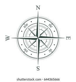 Compass. Wind rose. Vector illustration.
