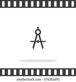 Compasses  Vector Icon.