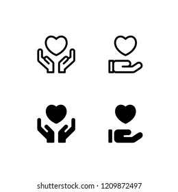 Compassion Icon Logo Vector Symbol. Sympathy Icon