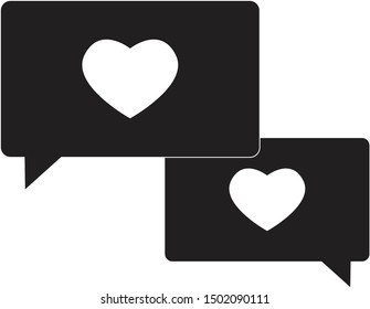 compassion icon on white background. flat style. speech bubble with heart icon for your web site design, logo, app, UI. compassion symbol. compassion sign.