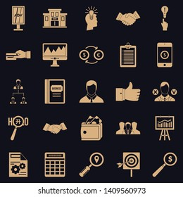 Compensation icons set. Simple set of 25 compensation vector icons for web for any design