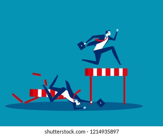 Competition business, Concept business vector illustration, Flat business cartoon, Defeat, Loss, Rivalry, Victory, Achievement.