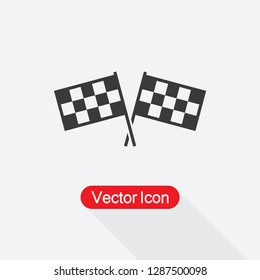 Competition Sport Flag Icon Vector Illustration Eps10