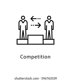 Competition Vector Line Icon
