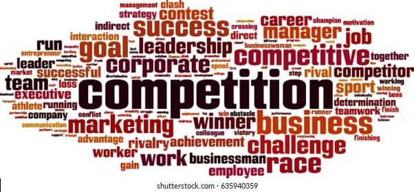 Competition word cloud concept. Vector illustration