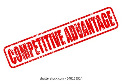 COMPETITIVE ADVANTAGE red stamp text on white