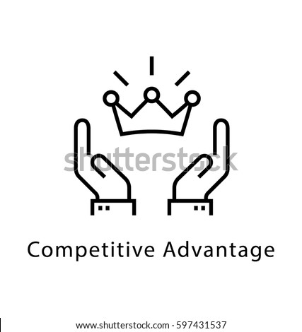 competitive advantages vector line icon のベクター画像素材