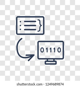 Compiler icon. Trendy linear Compiler logo concept on transparent background from Programming collection