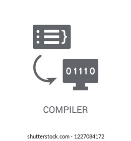 Compiler icon. Trendy Compiler logo concept on white background from Programming collection. Suitable for use on web apps, mobile apps and print media.