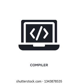 compiler isolated icon. simple element illustration from programming concept icons. compiler editable logo sign symbol design on white background. can be use for web and mobile
