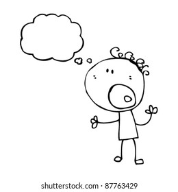 complaining doodle boy cartoon