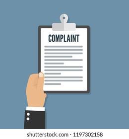Complaint concept flat icon
