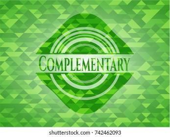 Complementary green mosaic emblem