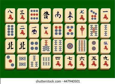 Complete mahjong (majiang) set Reskin Mobile Game Assets