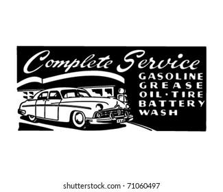 Complete Service - Retro Ad Art Banner