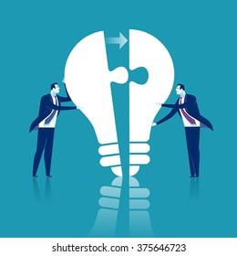 Completing Idea. Business illustration.