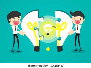 Completing Idea. Business vector illustration.