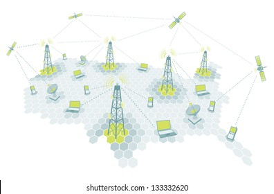 Complex telecomm network / Communication diagram