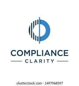 Compliance clarity modern c logo concept