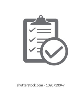 In compliance icon set that shows a company passed inspection