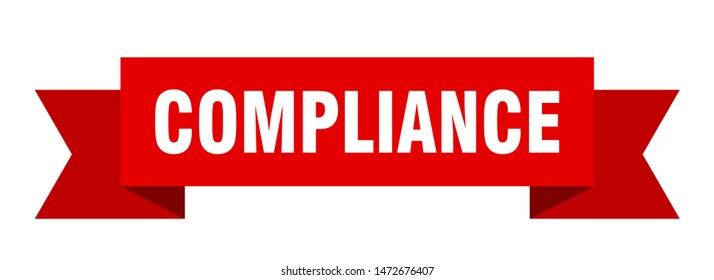 compliance ribbon. compliance isolated sign. compliance banner
