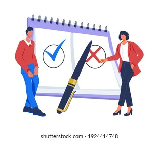 Compliance rules and law regulation business concept with business people people control regulation, flat vector illustration isolated on background. Compliance standard rules business technology.