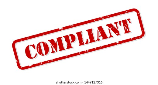 Compliant red rubber stamp vector isolated
