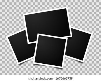 Composition of empty photo frames