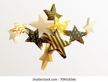 Composition of gold stars
