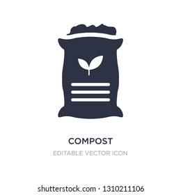 compost icon on white background. Simple element illustration from General concept. compost icon symbol design.