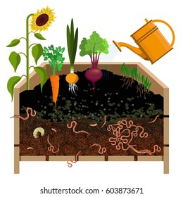 Compost pile. Vector illustration