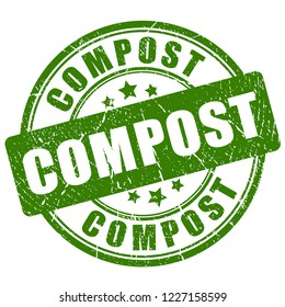 Compost vector stamp on white background