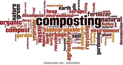 Composting word cloud concept. Vector illustration