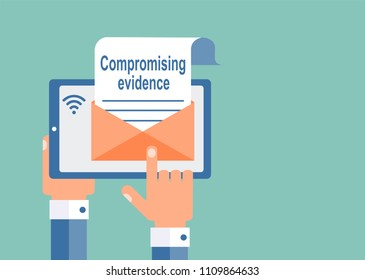 Compromising materials. Receiving, sending by e-mail.