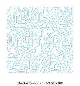 Computer chip circuit icon vector illustration graphic design