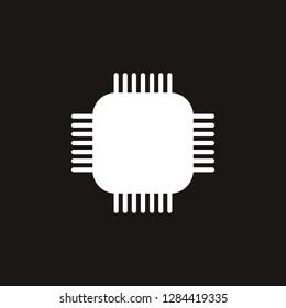 computer chipset icon. computer chipset vector design. sign design