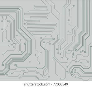 computer circuit board. electronic technology's vector background