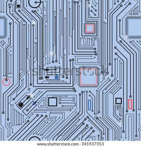 computer circuit board pattern vector seamless stock vector (royaltycomputer circuit board pattern vector seamless texture