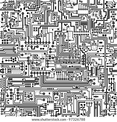 computer circuit board pattern vector seamless stock vector royalty rh shutterstock com