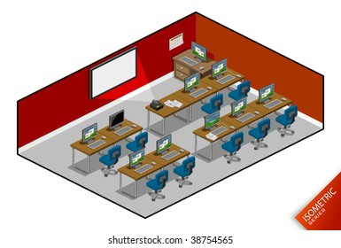 Computer Class. Isometric Series. Compose Your Own World Easily with Isometric Works.