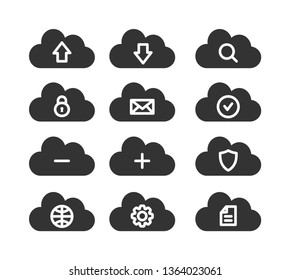 Computer cloud icons