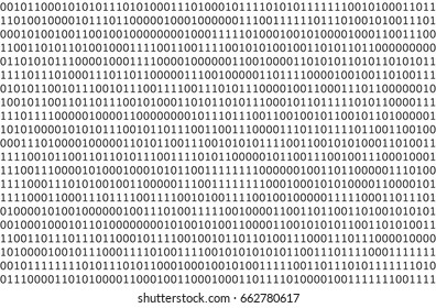 Computer data by 0 and 1 on white background. Seamless pattern.