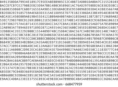 Computer data in hex numbers on white background. Seamless pattern.