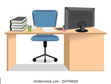 Cartoon Desk Images Stock Photos Amp Vectors Shutterstock