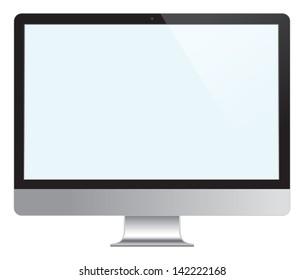Computer Desktop Monitor, Display vector illustration.