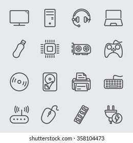 Computer devices line icon