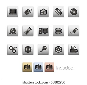 Computer & Devices // Metallic Series - It includes 4 color versions for each icon in a different layer.