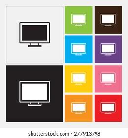 Computer display icon - Vector