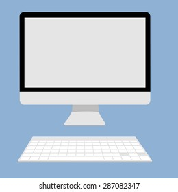 Computer display Icon vector illustration.